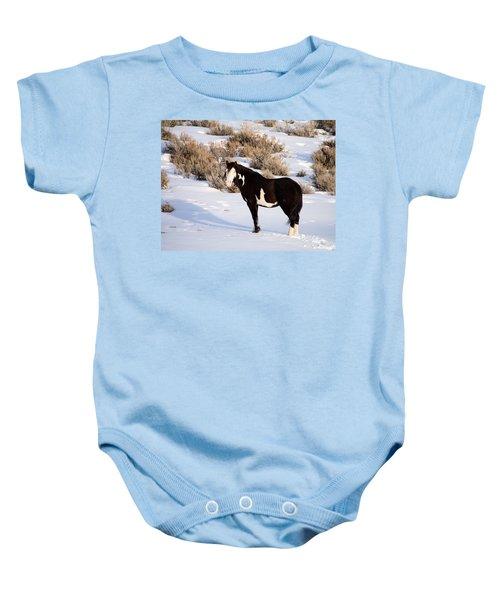 Wild Horse Stallion Baby Onesie