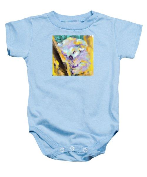 Baby Onesie featuring the painting Wildlife Cuddle Koala by Go Van Kampen