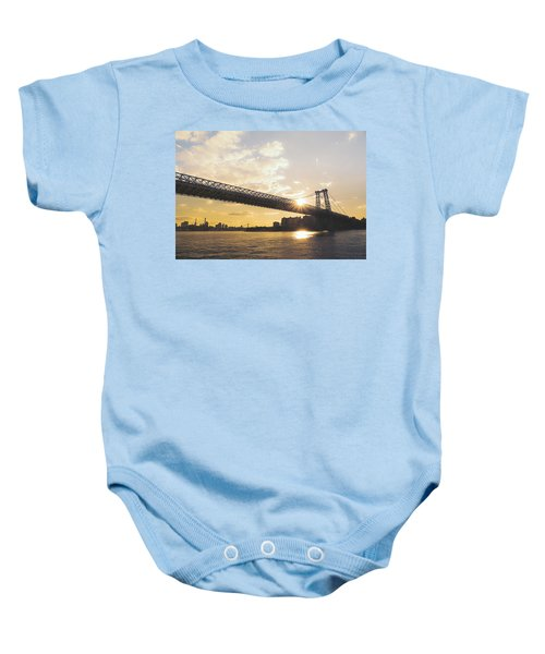 Williamsburg Bridge - Sunset - New York City Baby Onesie