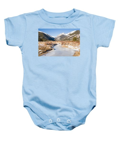 Winter At Horseshoe Park In Rocky Mountain National Park Baby Onesie