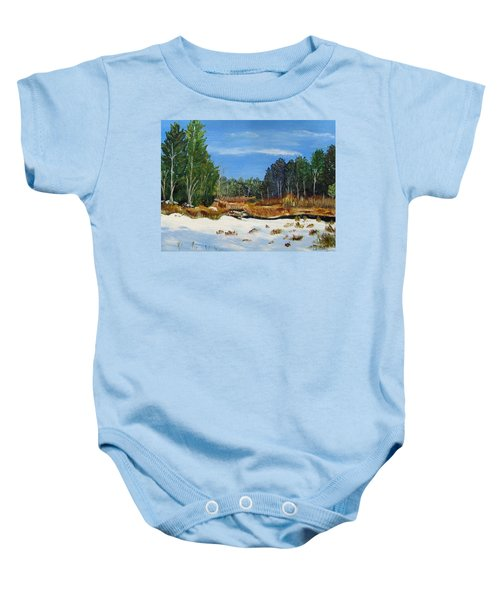 Winter Marsh In Hooksett Baby Onesie