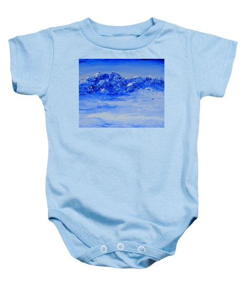 Winters Frosty Hues Baby Onesie