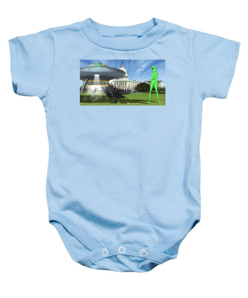 Wip - Washington Field Trip Baby Onesie by Mike McGlothlen