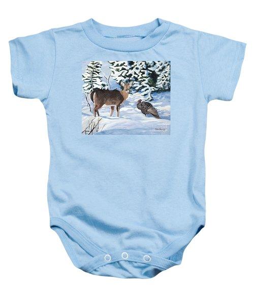 Woodland Creatures Meet Baby Onesie