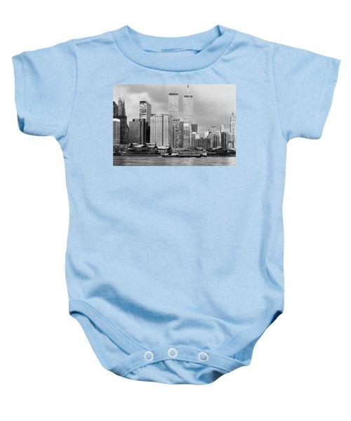 New York City - World Trade Center - Vintage Baby Onesie