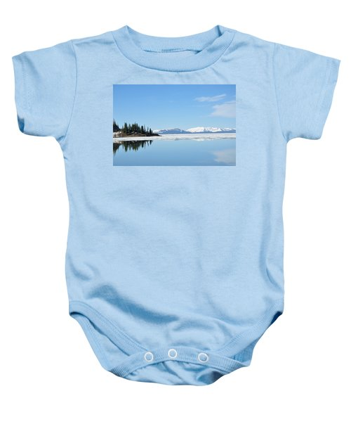 Yellowstone Lake In The Spring Baby Onesie