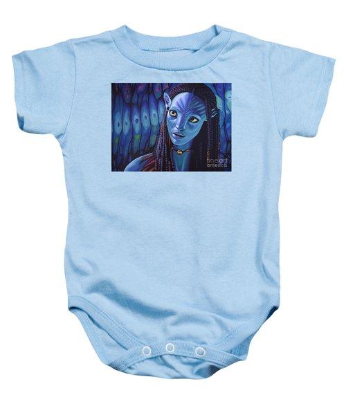 Zoe Saldana As Neytiri In Avatar Baby Onesie