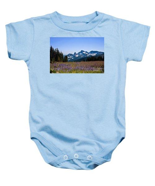 Wildflowers In The Cascades Baby Onesie