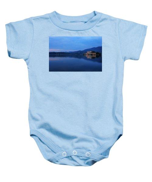 Island Of San Giulio On Lake Orta Baby Onesie