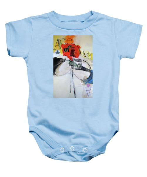 Ace Of Clubs 36-52 Baby Onesie