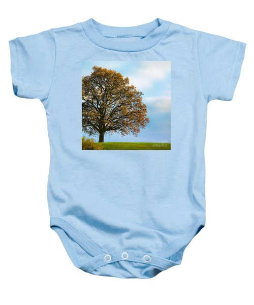 Alone On The Hill Baby Onesie