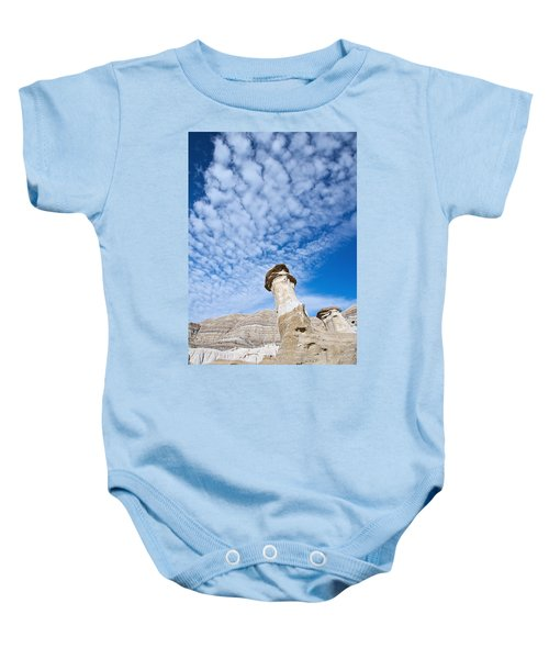 Angled Hoodoo And Clouds Baby Onesie