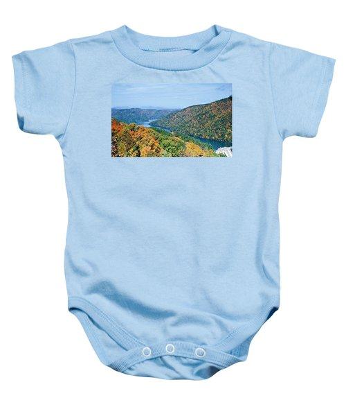 Autumn At Lake Tugalo Baby Onesie