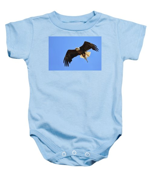 Bald Eagle Catch Baby Onesie