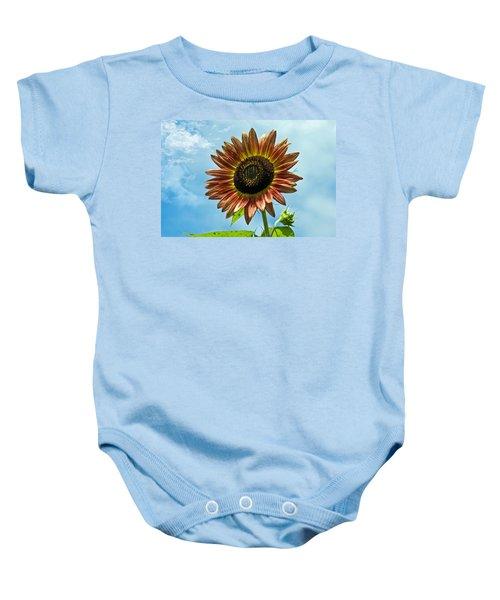 Beautiful Sunflower Baby Onesie