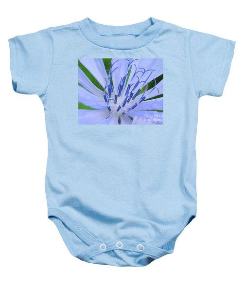Blue Wild Flower Baby Onesie