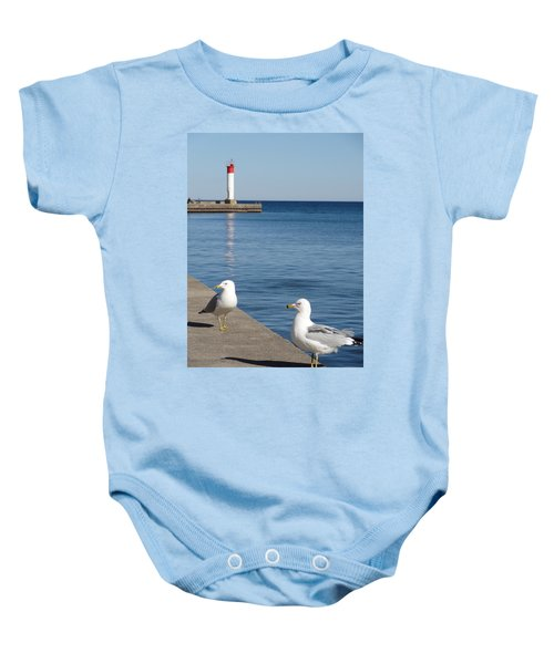 Bronte Lighthouse Gulls Baby Onesie