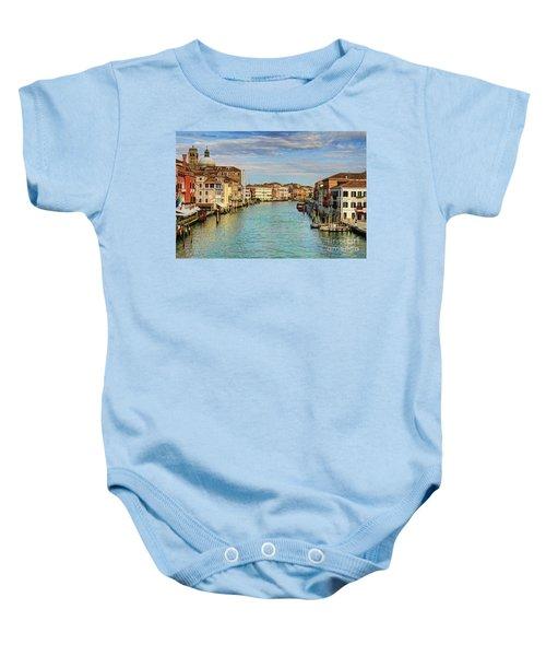 Canals Of Venice  Baby Onesie