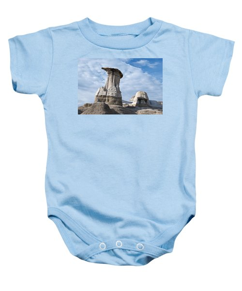 Capped Hoodoo And Clouds Baby Onesie