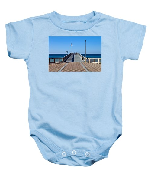 Entrance To A Fishing Pier Baby Onesie