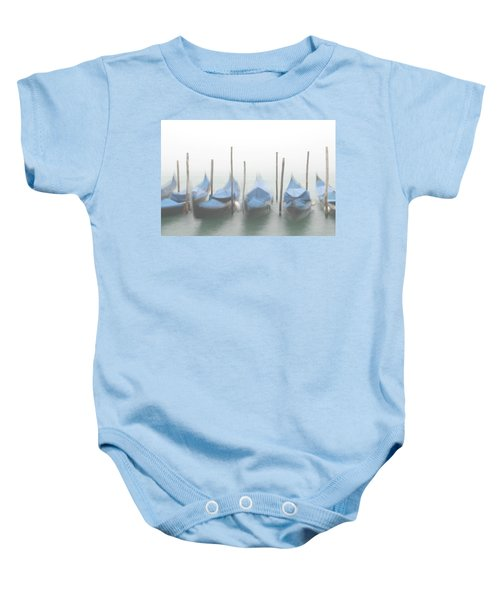 Foggy Morning Grand Canal Baby Onesie