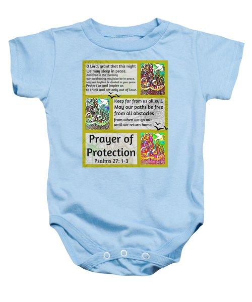 Jewish Prayer Of Protection City Of Jerusalem Gold Baby Onesie