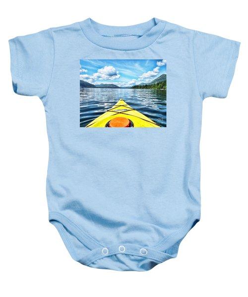 Kayaking In Bc Baby Onesie