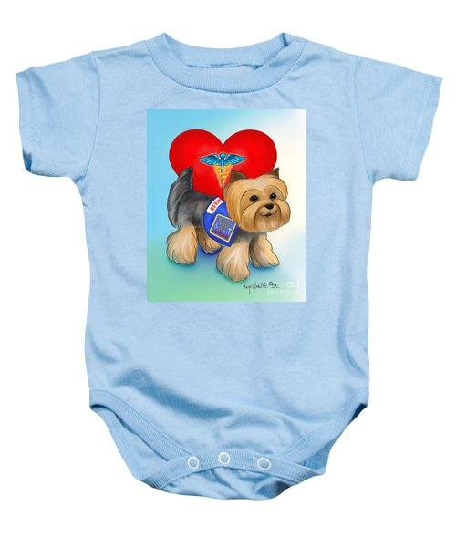 Medical Alert Yorkie Baby Onesie