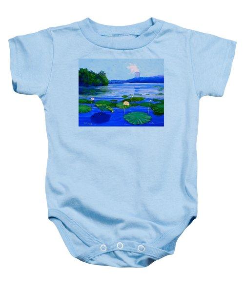 Modern Mississippi Landscape Baby Onesie
