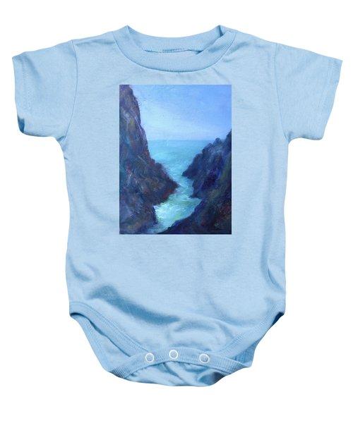 Ocean Chasm Baby Onesie
