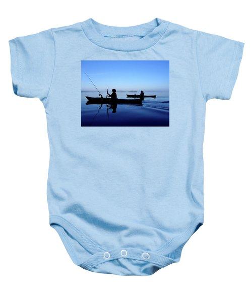 On The Deep Blue Sea Baby Onesie