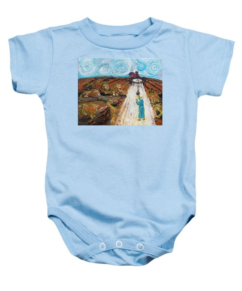 Prophetic Message Sketch 15 Daniel The Lion's Den And The Whirlwind Baby Onesie