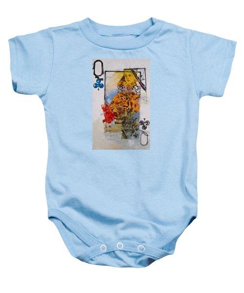 Queen Of Clubs 4-52  2nd Series  Baby Onesie