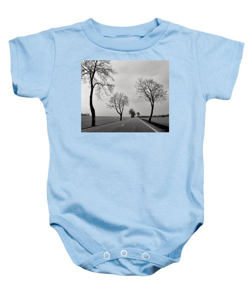 Road Through Windy Fields Baby Onesie