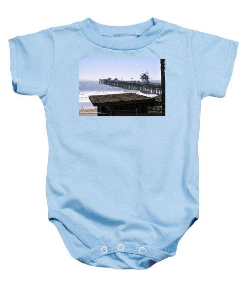 San Clemente Pier California Baby Onesie