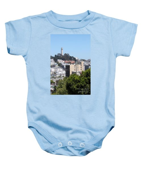 San Francisco Coit Tower Baby Onesie
