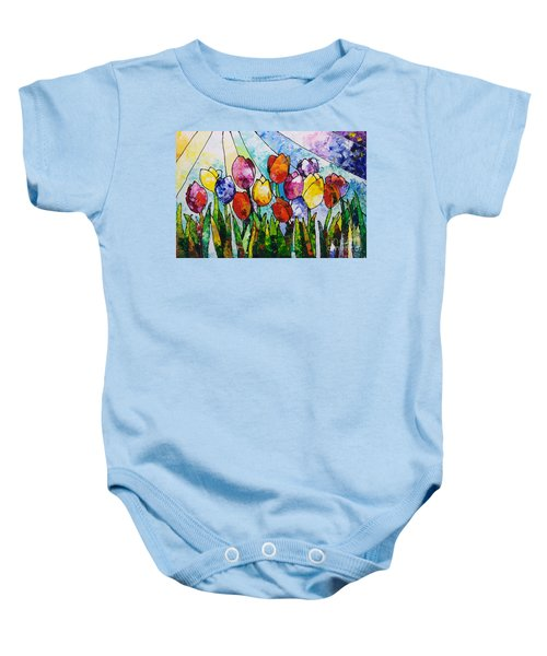 Tulips On Parade Baby Onesie
