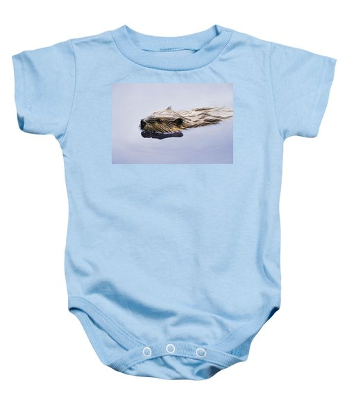 View Of Beaver, Chaudiere-appalaches Baby Onesie by Yves Marcoux