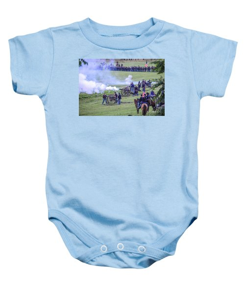 Gettysburg Union Artillery And Infantry 7439c Baby Onesie