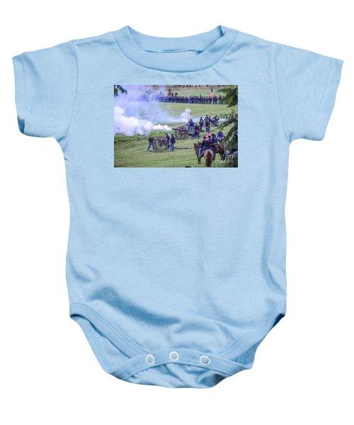 Gettysburg Union Artillery And Infantry 7439c Baby Onesie