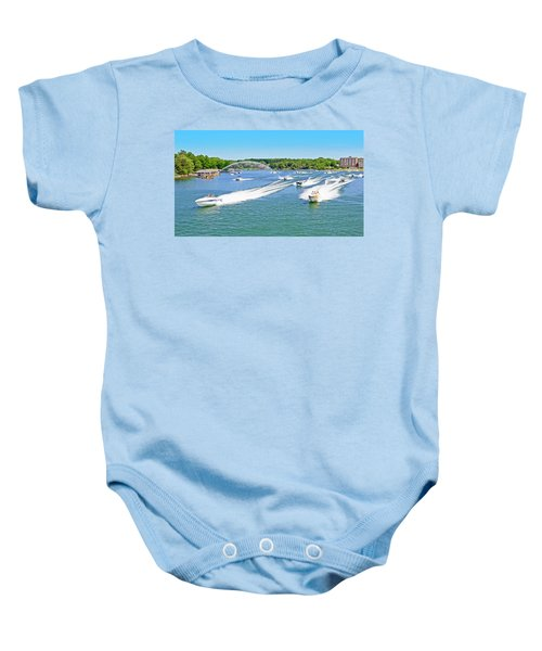 2017 Poker Run, Smith Mountain Lake, Virginia Baby Onesie
