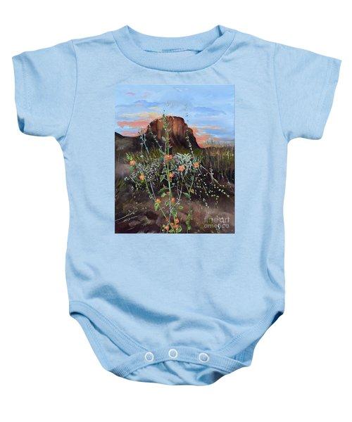 Arizona Desert Flowers-dwarf Indian Mallow Baby Onesie