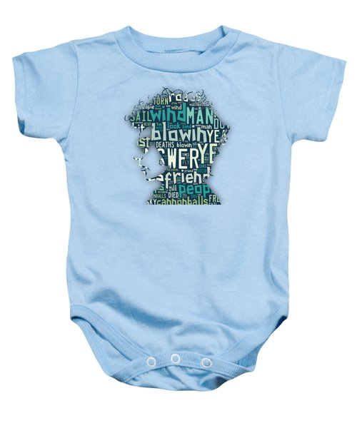 Bob Dylan Blowin In The Wind Baby Onesie by Marvin Blaine