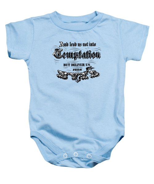 Deliver Us From Evil Tee Baby Onesie