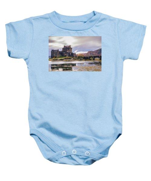Eilean Donan Castle, Dornie, Kyle Of Lochalsh, Isle Of Skye, Scotland, Uk Baby Onesie