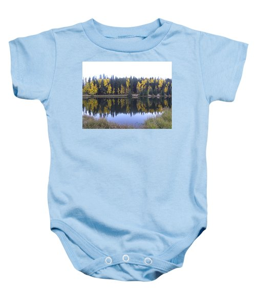 Potty Pond Reflection - Fall Colors Divide Co Baby Onesie