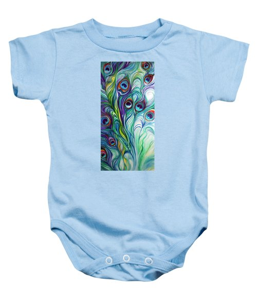 Feathers Peacock Abstract Baby Onesie