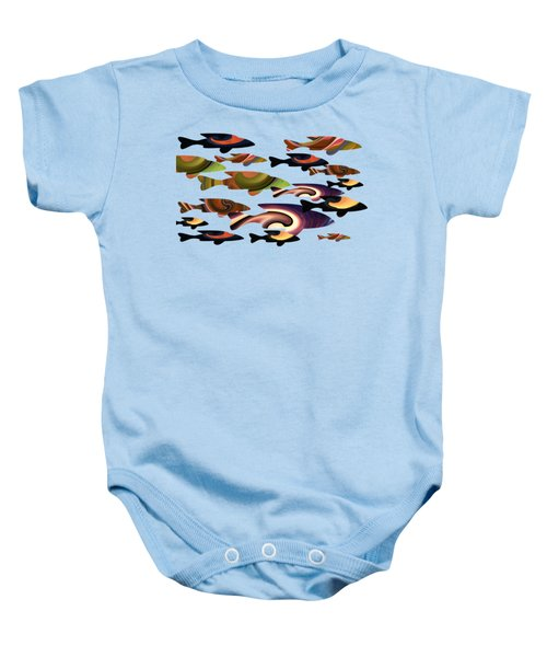 Fish Of A Different Color Baby Onesie