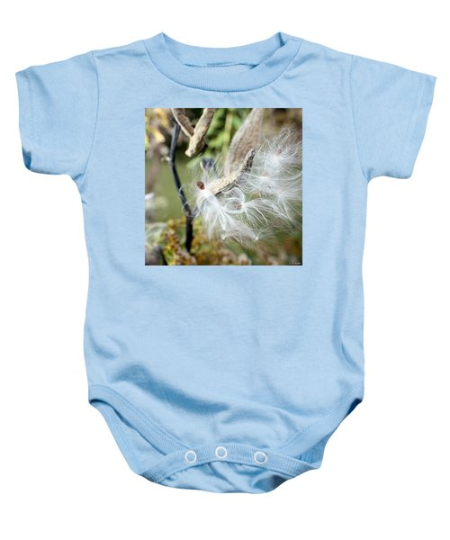 Flight Of The Milkweed Baby Onesie