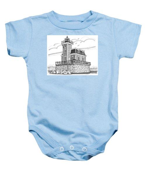 Hudson-athens Lighthouse Baby Onesie